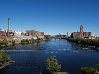 Lawrence, Massachusetts - Merrimack River at Lawrence