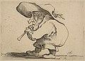 Le Joueur de Flageolet (The Flageolet Player), from Varie Figure Gobbi, suite appelée aussi Les Bossus, Les Pygmées, Les Nains Grotesques (Various Hunchbacked Figures, The Hunchbacks, The Pygmes, The Grotesque Dwarfs) MET DP818534.jpg