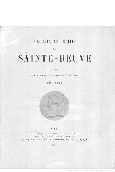 File:Le Livre d'or de Sainte-Beuve, 1904.djvu