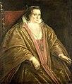 Leandro Bassano - Portret van een vrouw, waarschijnlijk Morosina Morosini, de echtgenote van Marino Grimani, doge van Venetië.jpg