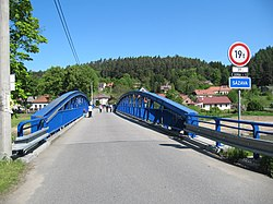 Ledečko bridge over river Sazava