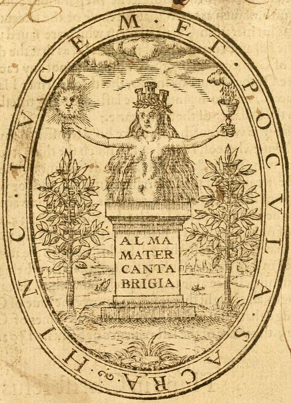 Legate John, Alma Mater Cantabrigia Emblem 1600 (Golden Chaine print).jpg