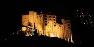 Leh Palace - Leh palace lit in night on the Galdan Namchot festival.