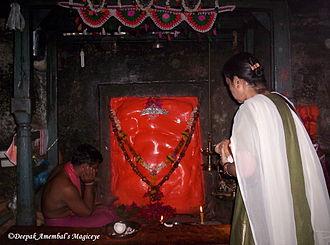 Lenyadri - The sanctum and central icon