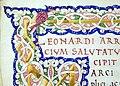 Leonardo bruni, traduzione della vita marci antonii di plutarco, firenze 1450-75 ca. (bml, san marco 332) 03.jpg