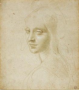 Leonardo da vinci, Head of a girl 01.jpg