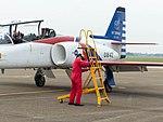 Li Jun-Ting, ROCAF Major, Pilot of Thundertigers AT-3 0842 Leaving Aircraft 20161126c.jpg