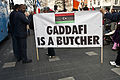 "Libyans Protesting In Dublin - ""Gadaffi is a Butcher"".jpg"