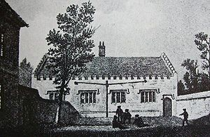 Early life of Samuel Johnson - Engraving of the Lichfield Grammar School