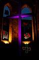 Licht.Wort.Raum.Klang.Zeit. Lichtinstallation von VJ Tosh Leykum vor Ein-Leuchtungen von Inge-Rose Lippok, Aegidienkirche, Lange Nacht der Kirchen in Hannover 2012.jpg