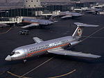 Line-up of American Airlines BAC 111-401AK One-Eleven at LaGuardia Airport.jpg