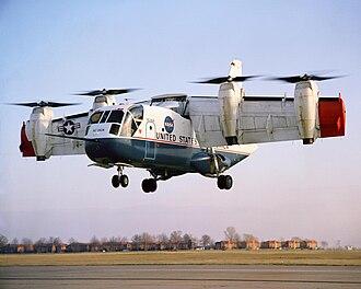 Experimental aircraft - A LTV XC-142 experimental V/STOL aircraft.