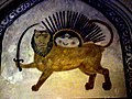 Lion and Sun in Aligholi agha Hammam Isfahan.JPG