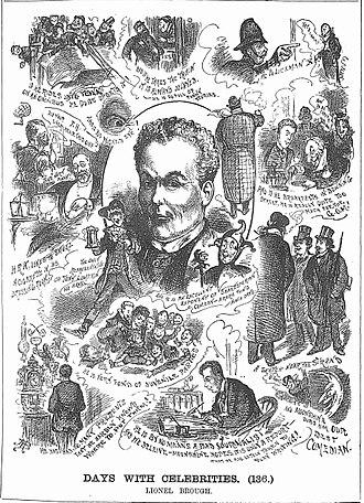 Lionel Brough - 1884 caricatures of Brough