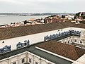 Lisbon. Mosteiro de São Vicente de Fora. View of Ponte 25 de Abril and statue of Cristo Rei. (28070651218).jpg