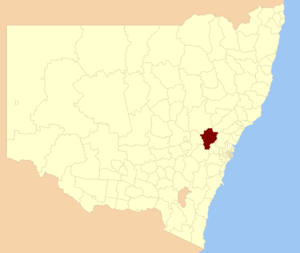 City of Lithgow - Location in New South Wales