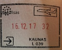 Lithuanian passport stamp (by air).jpg