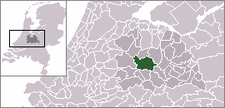 Location map of the location of the Utrecht