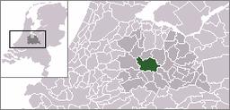 Utrechts beliggenhed i Nederlandene