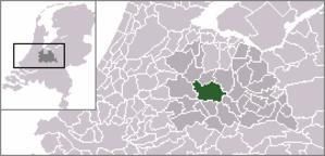 Haarzuilens - Image: Locatie Utrecht