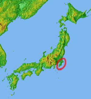 Bōsō Peninsula - Image: Location Boso Peninsula Jp