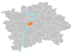 Location of Prague 2 in Prague