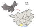 Location of Fangchenggang Prefecture within Guangxi (China).png