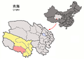 Location of Zadoi within Qinghai (China).png
