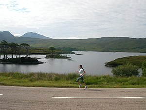 Loch Assynt. It's a long way to the London Mar...