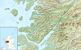Map showing the location of Glen Roy National Nature Reserve