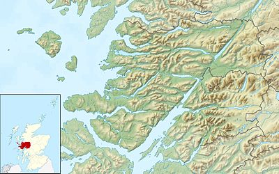 Location map Scotland Lochaber