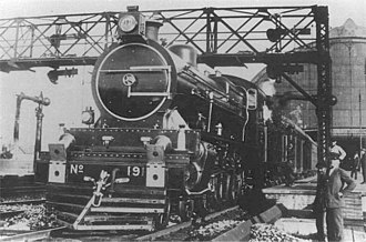 "Central Argentine Railway - Famous ""191"" steam locomotive in Retiro."