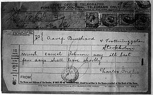 "Carl Hans Lody - Lody's telegraph to ""Adolf Burchard"" in Sweden, which revealed his assumed identity to the British authorities"