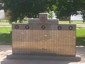 Logansport, Louisiana - The Veterans Memorial in Logansport