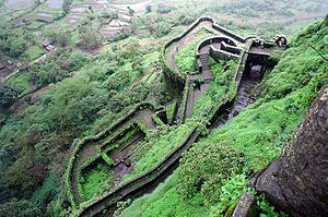 Lohagad - Lower ramparts of the fort