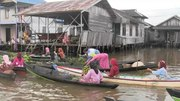 File:Lok Baintan Floating Market, South Kalimantan, Indonesia.ogv