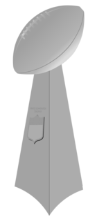 Vince Lombardi Trophy Trophy for the winning team of the Super Bowl