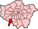 Kingston upon Thames shown within Greater London