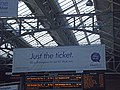London Marylebone Station - banner - Just the Ticket - Go to Birmingham for £6 (8090952757).jpg