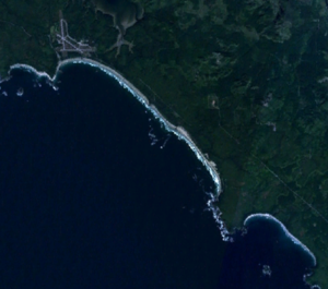 Pacific Rim National Park Reserve - Satellite picture of Long Beach.