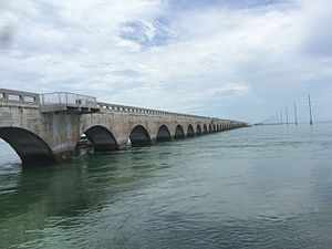 Long Key Bridge - Long Key Viaduct as of 2015