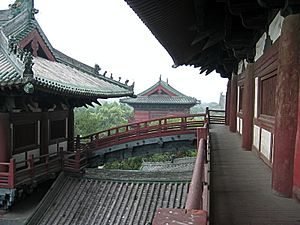 Longxing Temple (Zhengding) - Longxing Monastery, photographed from the balcony of the Main Hall.