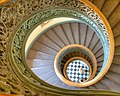 Looking down the spiral staircase, Peabody Institute, Mount Vernon Place Historic District.jpg