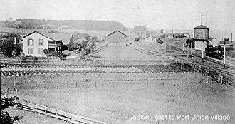 Port Union, Toronto - View of Port Union Village and the Grand Trunk Railway station in Port Union.