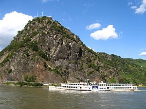 Lorelei - View from the left bank of the Rhine at St. Goar