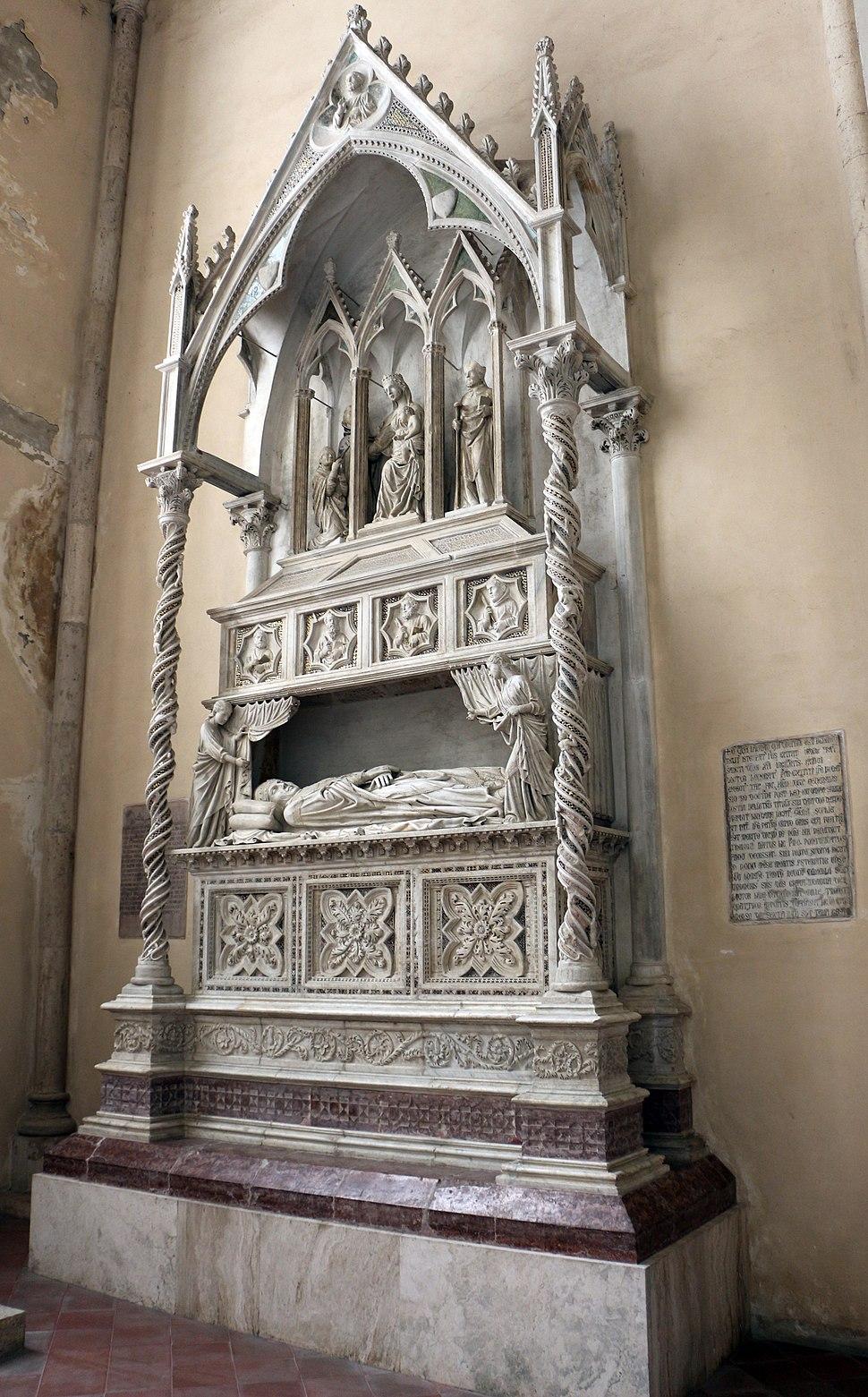 Lorenzo maitani (attr.), monumento di benedetto XI, 1305 circa, 01