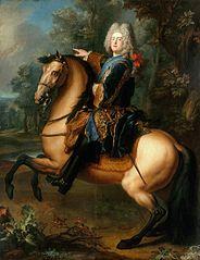 Kurprinz Friedrich August von Sachsen (1696-1763) zu Pferde