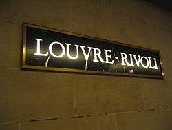 Louvre – Rivoli (Métro Paris)