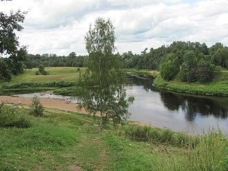 Kholmsky District, Novgorod Oblast - The Lovat River in Kholm, Kholmsky District