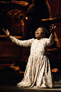 Lovely Hoffman playing Celie in The Color Purple